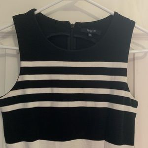 Madewell Sleeveless Dress Black/White Stripe XS!!
